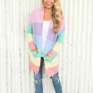 Rainbow Knit Cardigan-one size